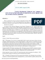 PLDT vs City of Davao _ 143867 _ August 22, 2001 _ J