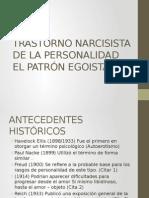 Trastorno Narcisista de La Personalidad El Patrón Egoista