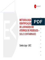 Methodology for the identification of leachate losses in Waste Landfill by the study of Soil Contamination in the surrounding area