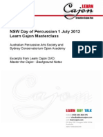 Learn Cajon Masterclass Notes