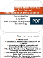 Semantic Information Retrieval From Distributed Heterogeneous Data Sources