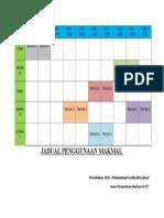 Contoh Jadual makmal