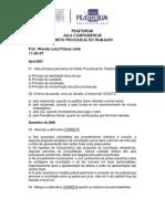 Aula Complementar - Processo Do Trabalho- Prof. Wendy Luiza- Aula Do Dia 11-03-09