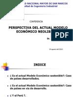 Modelo Economico Neoliberal -Perspectiva,Agosto-2015