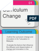 Curriculum Changes and Innovation