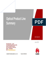 Huawei Optical Product Line Summary June