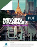 Winning Myanmar Automotive Lubricant's Market