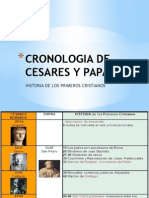 Cronologia de Cesares y Papas