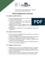 Aulas Complementares- Processo Penal - Prof.evânia- Aula Do Dia 06-03-2009