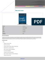 Principles of the Law of Sale and Lease