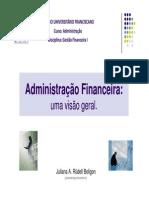 Aula 01 - Administração Financeira- Visão Geral [Modo de Compatibilidade]