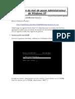 Recuperation Des Mots de Passe Perdus Sous Windows