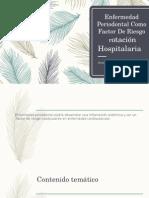 Enfermedad Periodontal Como Factor De Riesgo.pptx