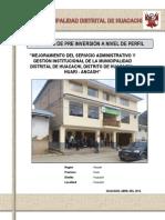 Perfil Mejoramiento de La Gestion Institucional Final