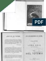 Librillo Totem, de lobo Gris