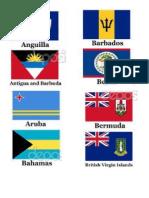 Banderas de America Meses y Estaciones en Ingles