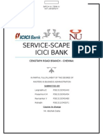 Service scape Analysis of ICICI bank branch