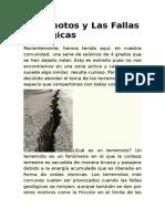 Terremotos y Las Fallas Geológicas