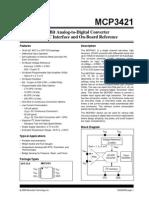 MCP3421 Datasheet