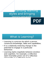 Understanding Learning Styles and Bringing Improvements