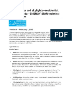 Window, Door and Skylights—Residential, Sold in Canada—ENERGY STAR Technical Specifications