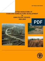 Selected Indicators of Food and Agriculture Development in Asia-Pacific Region 1993-2003