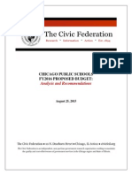 Civic Federation FY2016 CPS Budget Analysis