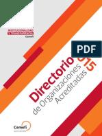 Directorio de Organizaciones Acreditadas 2015