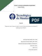 Tarea 4. Proyecto Lesgislaciones, Leyes y Politicas Públicas en Bionegocios en Sinaloa