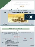 EJERCICIOS DE CUENTAS PRESUPUESTALES