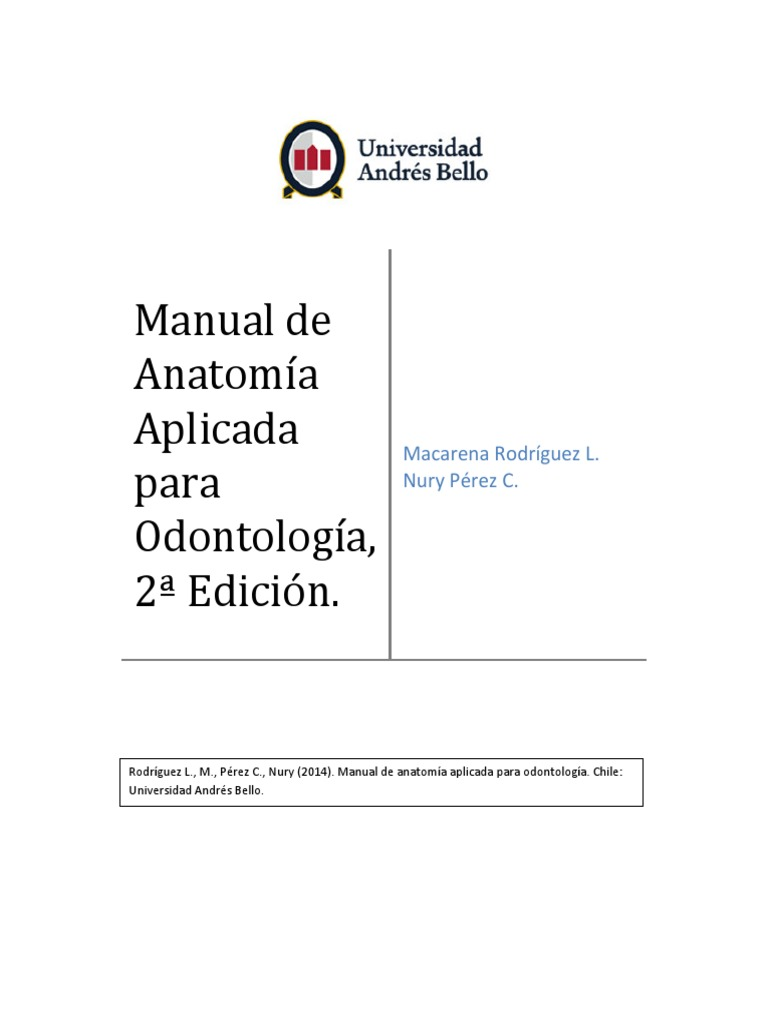 Manual Anatomía Aplicada para Odontología2da edicion
