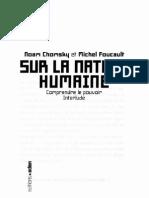 Sur La Nature Humaine - Chomsky Et Foucault (1)
