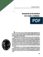 Declaracion Derechos de La Mujer-olivia Cano