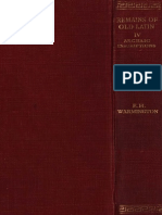 E. H. Warmington-Remains of Old Latin, Volume IV_ Archaic Inscriptions (Loeb Classical Library)-Harvard Univ Press (1940)