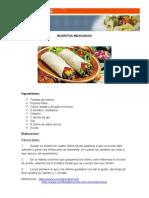Recetas Comida Mexicana