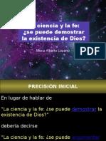 La Ciencia y La Fe_se Puede Demostrar La Existencia de Dios