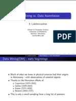 Data Assimilation vs Data Mining