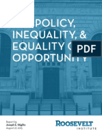 Fed Policy, Inequality, and Equality of Opportunity
