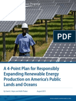 A 4-Point Plan for Responsibly Expanding Renewable Energy Production on America's Public Lands and Oceans