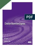 Crestron RoomView Express y BENQ
