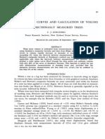 Cálculo do volume de seções de árvores
