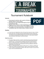 Pool Tournament Rulebook