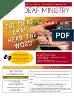 Flier 2010 Deaf Mins Conf