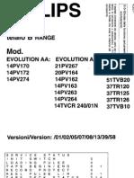Philips 14tvcr240 Ch Tvcr b - Sm
