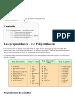 Alemán Gramática Preposiciones - Wikilibros