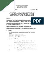Pulpal and Periradicular Histology and Pathology