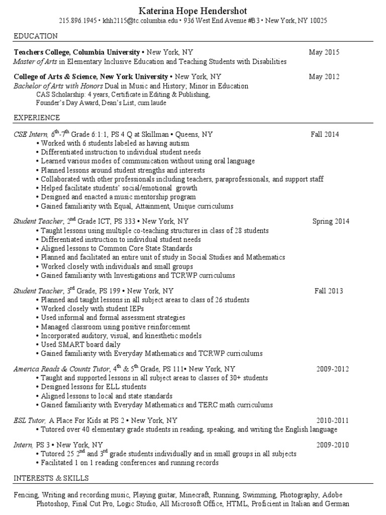 Katerina hendershot resume differentiated instruction katerina hendershot resume differentiated instruction inclusion education 1betcityfo Image collections