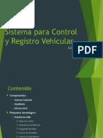 Sistema Para Control y Registro Vehicular