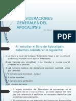 Consideraciones Generales Del Apocalipsis