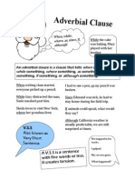 Adverbial Clause Poster by Lauren